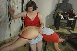 Clare's 1st Spanking