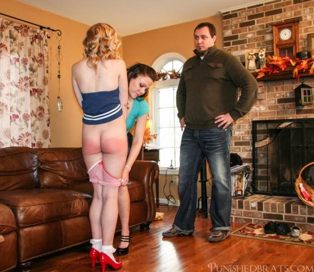 panties down for daughter Mandie Rae