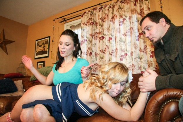 naughty spanked girl