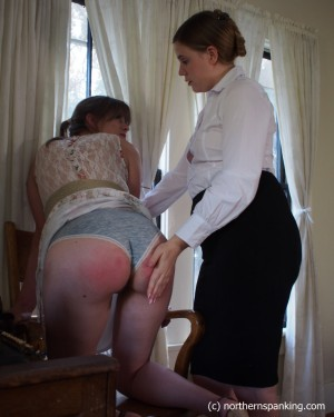 spanked on her panties