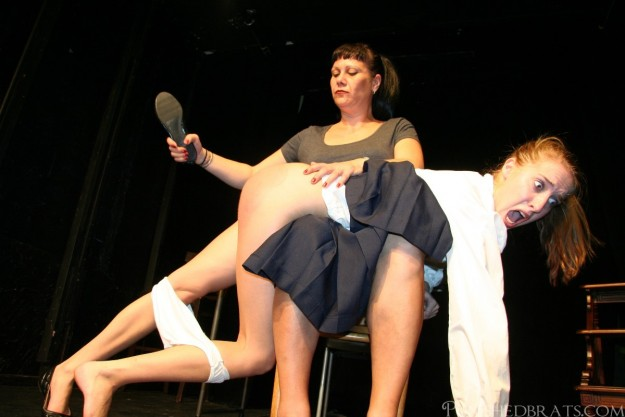 spanking with a slipper