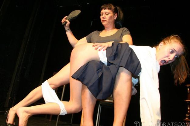 hard OTK spanking & slippering