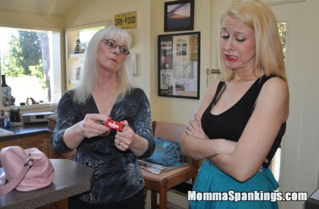 Strict Mommy Dana Specht scolds and spanks daughter Sarah Gregory