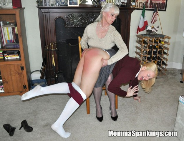 spanked otk by mom