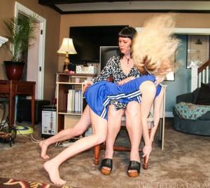 cheer girl spanking