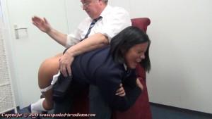 schoolgirl spanking
