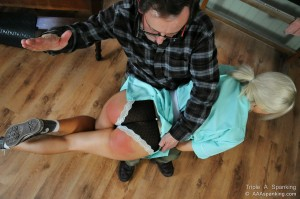 spanked over her panties