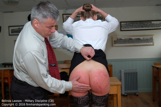 spanked on the bare bottom
