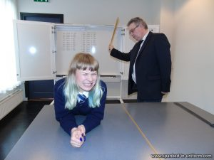 soundly thrashed in her punishment