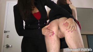 opened up and spanked on her bare bottom